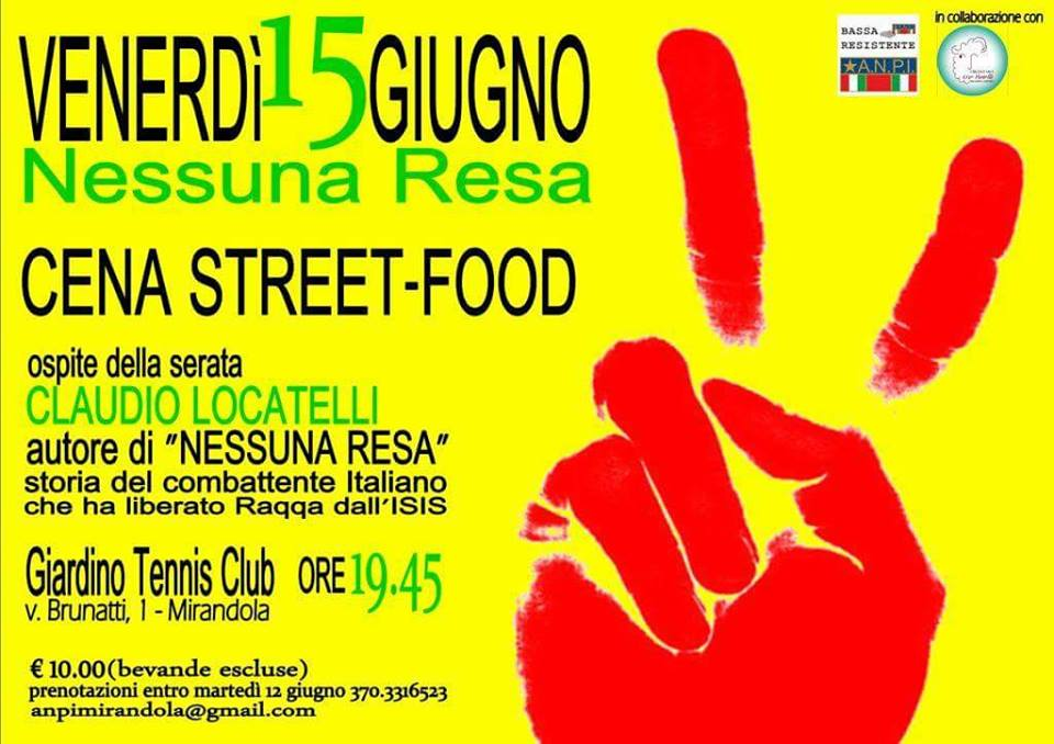 cena street food presso tennis club MIrandola